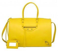 Balenciaga Mimosa Papier Bolster Bag