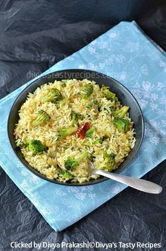 Broccoli Lemon Rice, Lemon Rice with Broccoli | Divya's Tasty Recipes
