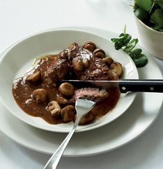 *Pork steaks with mushroom Port sauce **replace pork with beef