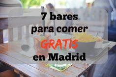 Si vives en Madrid seguro que estás acostumbrada a bares donde por el precio de la consumición te ponen una tapilla de comida gratis para matar el hambre que Madrid Tapas, Bar Madrid, Best Hotels In Madrid, Alcohol Bar, Madrid Travel, Tapas Bar, Bar Drinks, Eurotrip, Spain Travel