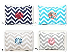 Monogrammed Pillow Chevron Pillow Cover Monogram with Insert Embroidered Monogram 12 x 16 Personalized Gift Housewarming Gift Baby Wedding. $35.00, via Etsy.
