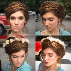 Bohemian Bridal Hair Floral crown Crown for Braids Philadelphia Hair Stylist and Makeup artist.     Airbonny@aol.com
