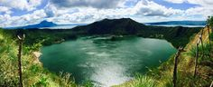 A lake within a crater of a volcano within a lake. Taal Crater Lake Taal Volcano Philippines.    Click on the photo to discover the most incredible destinations with us :)