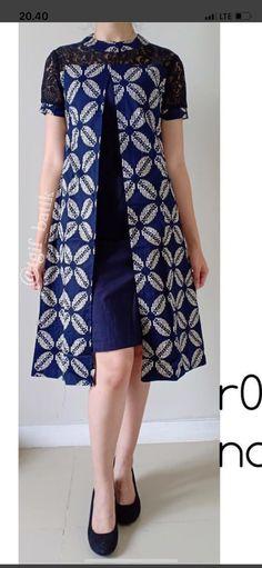 Dress Brokat, Kebaya Dress, Kebaya Modern Dress, Blouse Batik Modern, Rok Batik Modern, Model Dress Batik, Dress Batik Kombinasi, Mode Batik, Minimalist Outfit