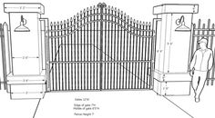 See professional driveway entrance gates, sketches, material information and dimensions to help you decide.