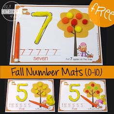 fall playdough mats