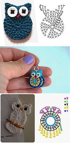 Crochet accessories 353603008245188015 - Trendy Crochet Keychain Owl Key Chains Ideas Source by NathBruRos Crochet Diagram, Crochet Chart, Crochet Motif, Crochet Stitches, Crochet Hooks, Knit Crochet, Crochet Owl Applique, Crochet Keychain Pattern, Crochet Appliques