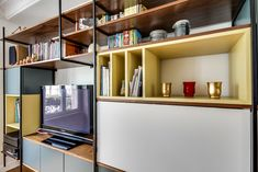 Bibliothèque JOU Furniture Inspiration, Decor Interior Design, Bookcase, Shelves, House Design, Living Room, Wall, Industrial, Home Decor