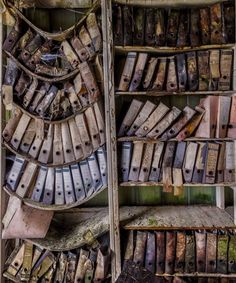 abandoned buildings of the Eastern bloc Sagging shelves with files on them - somewhere in the former Eastern Bloc. Photo by Christian Richter.Sagging shelves with files on them - somewhere in the former Eastern Bloc. Photo by Christian Richter. Abandoned Buildings, Abandoned Library, Abandoned Mansions, Old Buildings, Abandoned Places, Derelict Places, Abandoned Castles, Lost Places, Spiegel Online