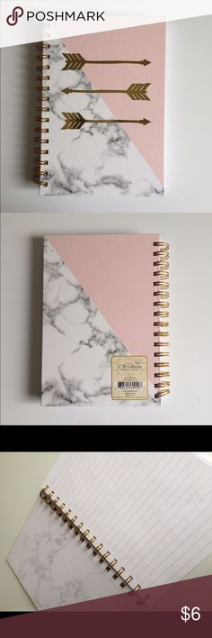 Marbled notebook Brand new cute notebook Accessories More
