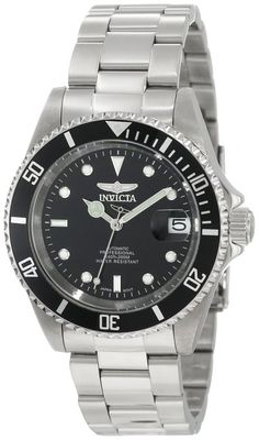 """Invicta Men's 8926OB """"Pro Diver Collection"""" Stainless Steel Coin-Edge Automatic Watch"""