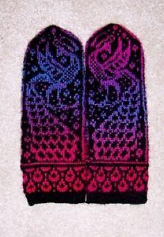 Firebirds Mittens pattern by Natalia Moreva
