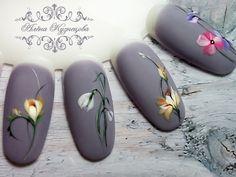 nail tips design French Nail Art Yellow, Nail Art Pastel, Floral Nail Art, Gel Nail Art, Spring Nail Art, Spring Nails, Autumn Nails, Manicure Nail Designs, Nail Manicure