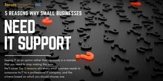 5 Reasons Why Small Businesses Need IT Support Tech News, Let It Be, Business, Blog, House, Blogging, Haus, Homes