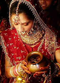 The colour 'Red' holds special significance during marriages. In traditional Indian weddings, the colour red symbolizes festivity, good will, purity and veracity.