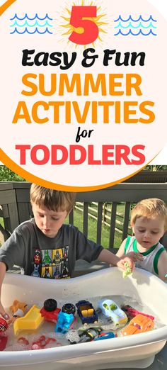 Check out these 5 summer activities for toddlers to pass the hot summer months. Toddlers will have tons of outdoor fun AND indoor fun with these fun summer activities! #toddlers #summer #summeractivities Summer Activities For Toddlers, Outdoor Summer Activities, Summer Camp Crafts, Outdoor Fun For Kids, Summer Fun For Kids, Summer Fun List, Rainy Day Activities, Indoor Activities, Toddler Activities