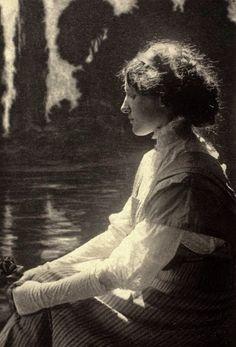 Girl Daydreaming by František Drtikol c.1915