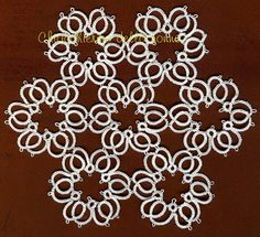 Tatting grandmother's Center of rosettes  One of these would make a great pendant!