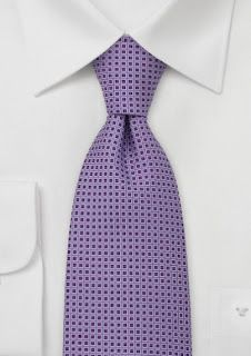 Purple Checkered Silk Necktie - The perfect necktie for the gray or charcoal colored suit. This tie looks best when worn during the fall season in combination with gray suit a Lavender Tie, Lavender Color, Cheap Neckties, Shirt And Tie Combinations, Wedding Ties, Wedding Attire, Wedding Stuff, Purple Lilac, Coral