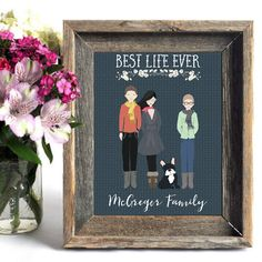 JW PersonalizedCustom Portrait Family Illustration