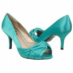 Women's Luichiny Best One Yet Aqua Satin Shoes.com