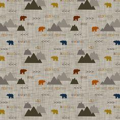Wilderness Scene Bears fabric by googoodoll on Spoonflower - custom fabric