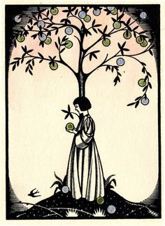 from Poems by WB Yeats, Cuala Press 1935 via The Cabinet of the Solar Plexus Ex Libris, Locuciones Latinas, Rose Trees, My Books, Reading Books, Illustrators, Book Art, Illustration Art, Lily