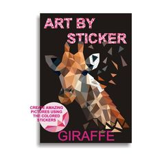 Paint By Sticker Kit - GIRAFFE / DIY kits for adults, Teen craft kits, Giraffe coloring page, coloring kit, Craft kit gift idea Diy Kits For Adults, Diy Crafts For Teens, Teen Crafts, Giraffe Coloring Pages, Giraffe Colors, Kit S, Create Picture, String Art Patterns, Adolescents