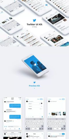 My official Twitter UI kit with monthly updates. Screens: Direct Message, New Poll, New Tweet, Search and more #AffiliateLink Twitter Template, Ui Kit, Screens, Messages, Templates, Search, Canvases, Stencils, Searching