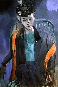 Portrait of the Artist's Wife by Henri Matisse - Paintings from Hermitage Museum Henri Matisse, Matisse Kunst, Matisse Art, Matisse Pinturas, Memes Arte, Matisse Paintings, Oil Paintings, Hermitage Museum, Western Art