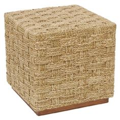 The neutral Palecek Spa Hassock table delivers a coastal complement to transitional living rooms. Textured with natural hand-braided seagrass, this square furnishing defines organic style both relaxed and chic. Modern Decor, Modern Furniture, Furniture Design, Square Side Table, Transitional Living Rooms, End Tables, Outdoor Decor, Home Decor, Country Retreats