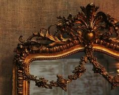 & i have some appliques like this i plan to put on a large mirror in our new bathroom Old Mirrors, Vintage Mirrors, Mirror Mirror, Mirror Image, French Decor, French Country Decorating, French Mirror, Beautiful Mirrors, Great Comet Of 1812