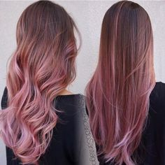 15 Awesome Trendy Mauve Hair Color 2018 For Great Appearance – dessins de cheveux Pink Ombre Hair, Brown Ombre Hair, Hair Color Pink, Mauve Color, Ombre Green, Pink Hair Streaks, Pink Hair Highlights, Straight Ombre Hair, Chocolate Mauve Hair
