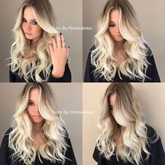 A perfect blonde balayage ombre by Kelly Jelic - Coiffure Sites Ombré Hair, Hair Dos, Love Hair, Gorgeous Hair, Amazing Hair, Perfect Blonde, Hair Color And Cut, Pretty Hairstyles, Brunette Hairstyles