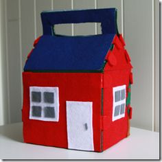 DIY- felt house- awesome folds out to be a small town!