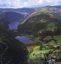 Glendalough Valley and Lakes, County Wicklow