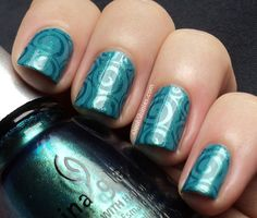 Oooh, Shinies!: Tone on Tone stamping with CG Deviantly Daring