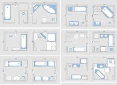 square master bathroom layouts - Google Search