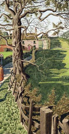 British Contemporary Painter Simon Palmer / The next door Neighbour Landscape Art, Landscape Paintings, Mary Cassatt, Art Graphique, Tree Art, Monet, Painting & Drawing, Illustration Art, Pictures