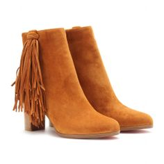 JIMMYNETTA 70 LEATHER ANKLE BOOTS WITH FRINGED TRIM