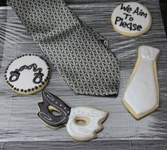 50 Shades of Grey Themed Cookies - One Dozen