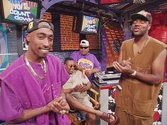 Tupac Shakur and Ed Lover