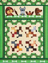 Let Sleeping Dogs Lie Quilt Kit $99.99 http://www.quiltandsewshop.com/product/quiltmaker-let-sleeping-dogs-lie-quilt-kit/quilt-kits#