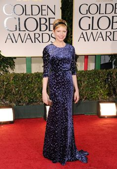 Michelle Williams at the 2012 Golden Globe Awards in Jason Wu. modest but fashionable!