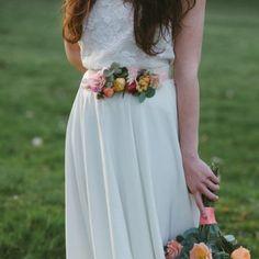 Réalisez une jolie ceinture fleurie - Marie Claire Idées