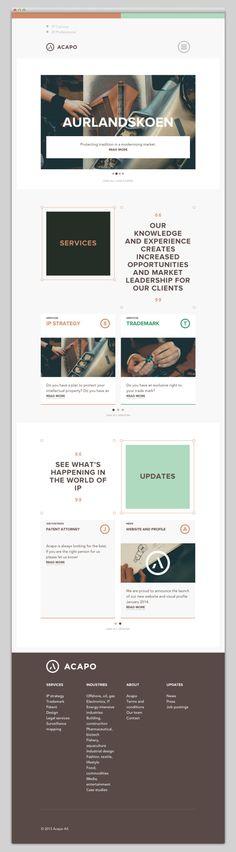 30 Minimal Website Designs acapo.com