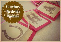 Cowboy Birthday Party: FREE Printable Birthday Banner - Jolly Mom