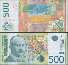 -AA- PREFIX SERBIA 500 DINARA 2012 YEAR P 59 UNC
