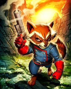 Rocket Raccoon by Edwin Huang