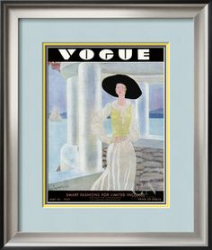 Vogue Cover - May 1930 Poster Print by Eduardo Garcia Benito at the Condé Nast Collection